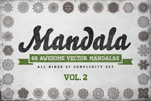 Awesome 69 Mandala II Set in Vector