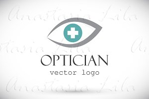 Optician vector logo