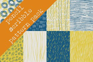Pencil Scribble Pattern Pack