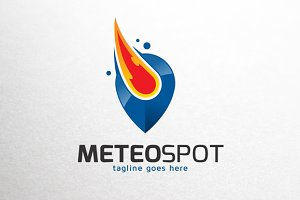 Meteor Spot Point Logo Template