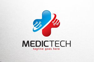 Medical Technology Logo Template