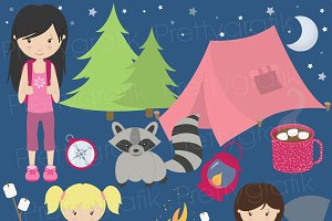 camping clipart commercial use