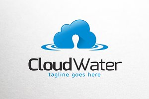 Cloud Water Logo Template