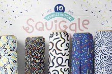 Squiggle - Abstract Memphis Patterns