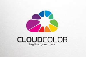 Cloud Color Logo Template