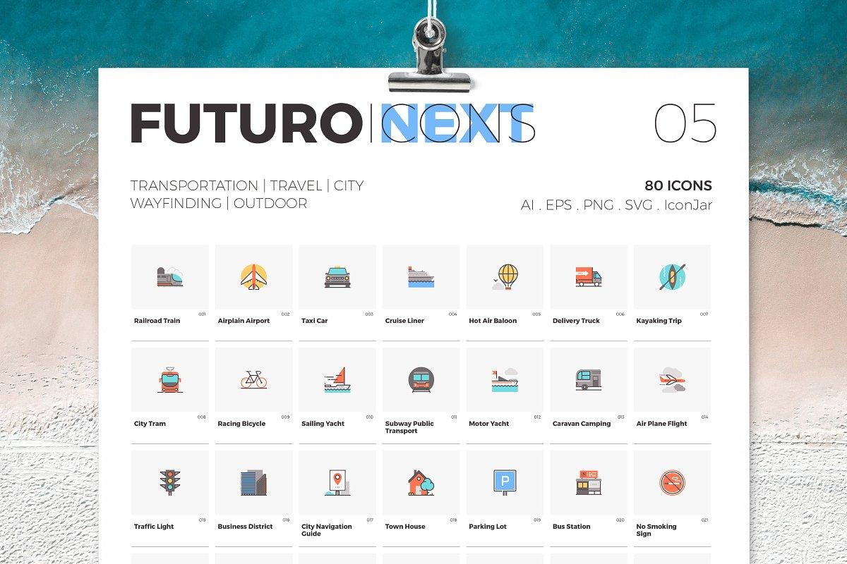 Futuro Next Icons / Travel Pack