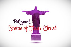 Polygonal Statue of Jesus Christ