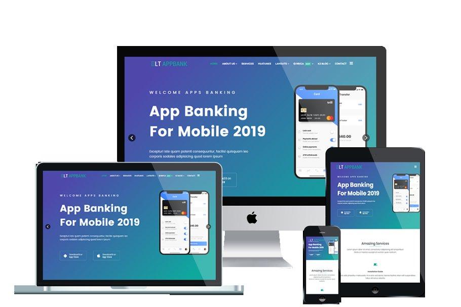 LT AppBank  Best Joomla App template