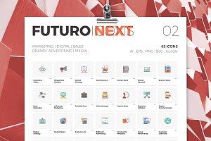 Futuro Next Icons / Marketing Pack
