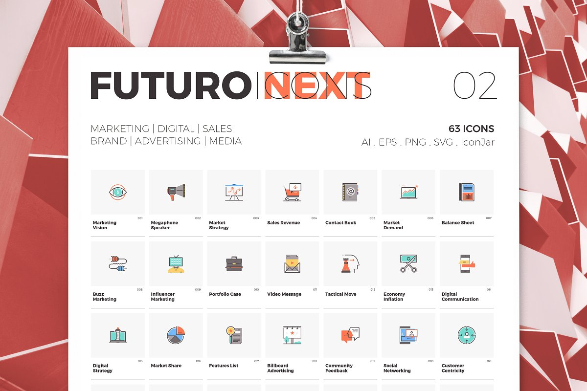 Futuro Next Icons / Marketing Pack