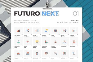 Futuro Next Icons / Business Pack