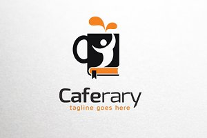 Cafe Library Logo Template