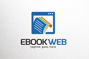 Ebook Website Online Logo Template