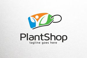 Plant Shop Logo Template