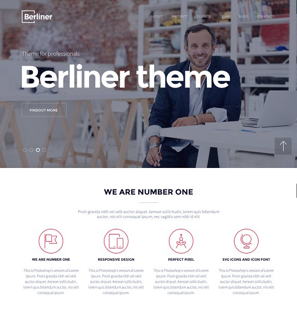 BERLINER - Creative Wordpress Theme in WordPress Business Themes