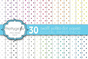 polka dot digital paper, commercial