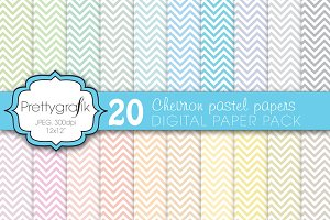 chevron digital paper, commercial