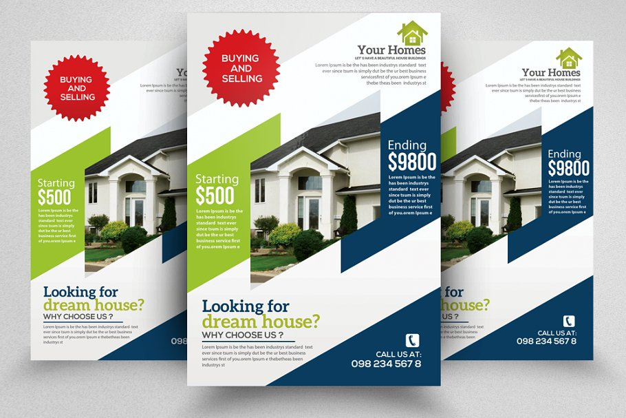 Real Estate Property Flyer Template ~ Flyer Templates