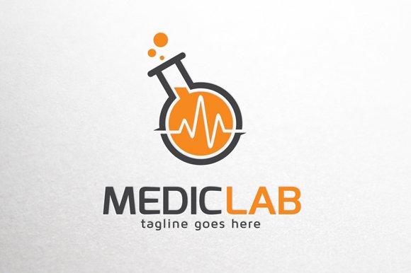 Medical lab logo template logo templates creative market toneelgroepblik Image collections