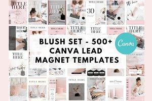 Blush Set 500+ Canva Template Bundle