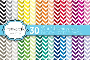 fat chevron digital paper