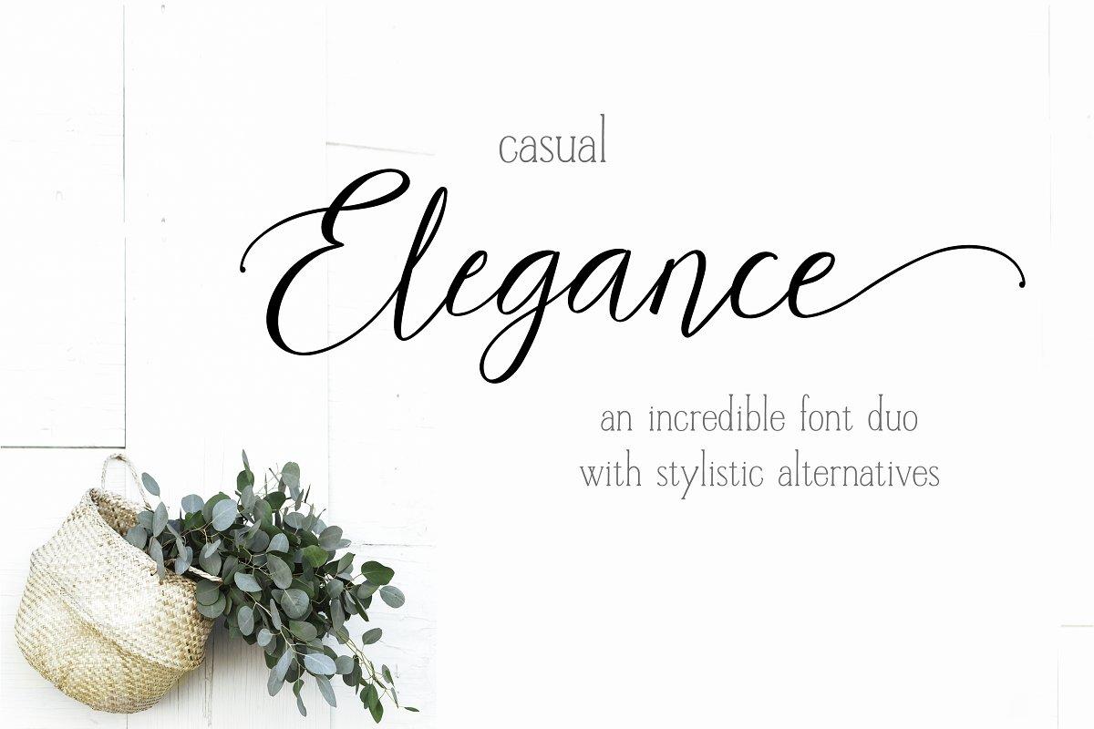 Casual Elegance - Script font