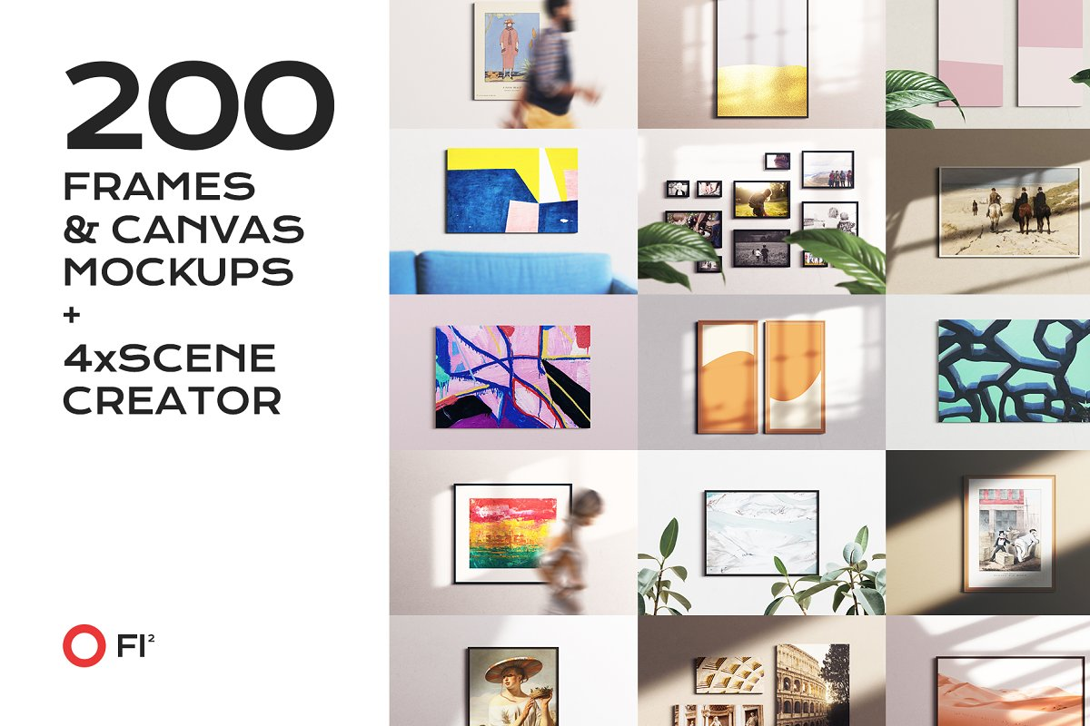 Canvas Mockups Templates Collection by Carlos Viloria
