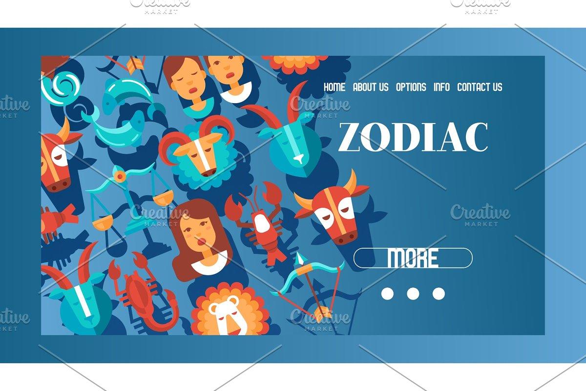 0c2d24f39 Zodiac signs banner web design ~ Illustrations ~ Creative Market