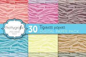 tiger animal print digital paper
