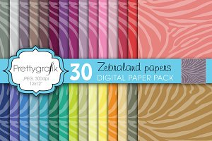zebra animal print digital paper