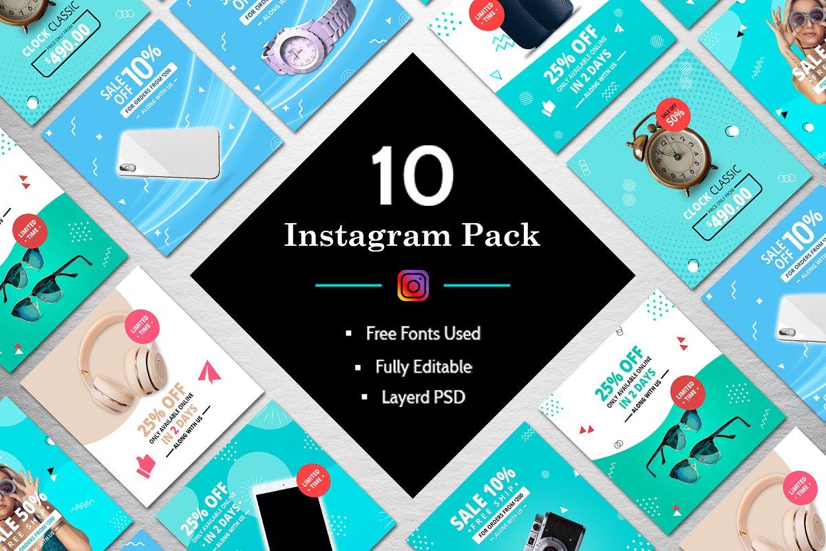 10 Instagram Banner Pack