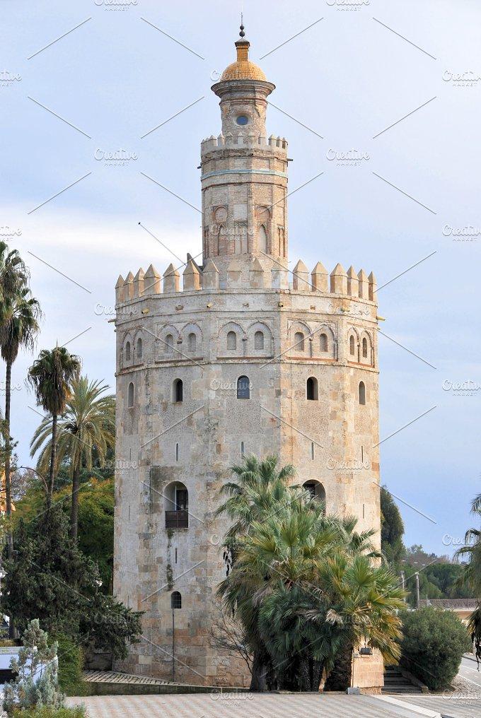 Spain. Seville. Torre del Oro - Architecture