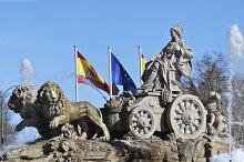 Spain. Madrid. Fountain of Cibeles