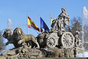 Spain. Madrid. Fountain of Cibeles