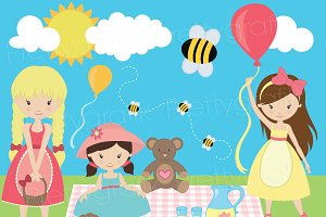 Picnic day clipart commercial use