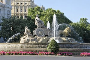 Cibeles fountain. Madrid, Spain