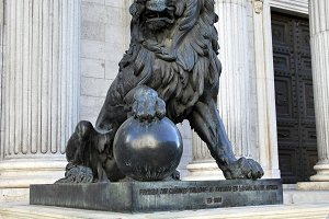 Deputy congress lion. Madrid