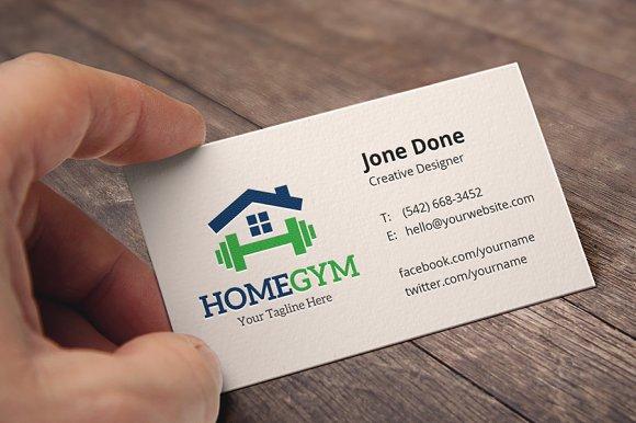 Home gym logo templates creative market colourmoves