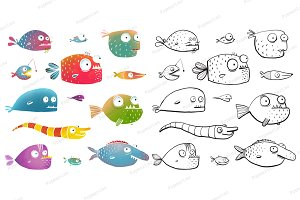 Cartoon Fish Collection for Kids