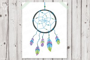 Dreamcatcher blue green boy baby