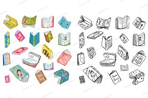 Books Drawing Big Collection