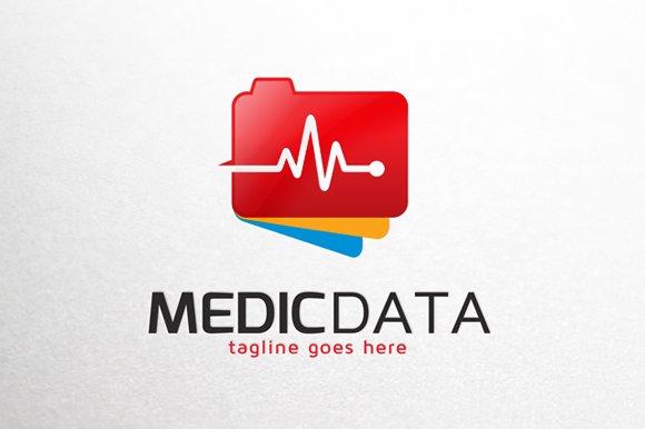 medic data logo template logo templates creative market