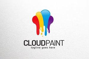 Cloud Color Paint Logo Template