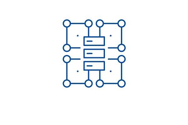 organization structure line icon pre designed vector graphics creative market creative market