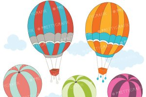 hot air balloon clipart commercial