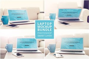 Laptop mockup bundle