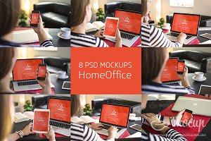 8 PSD Mockups Home Office