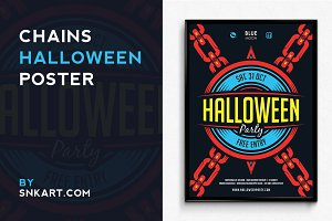 Chains Halloween Poster
