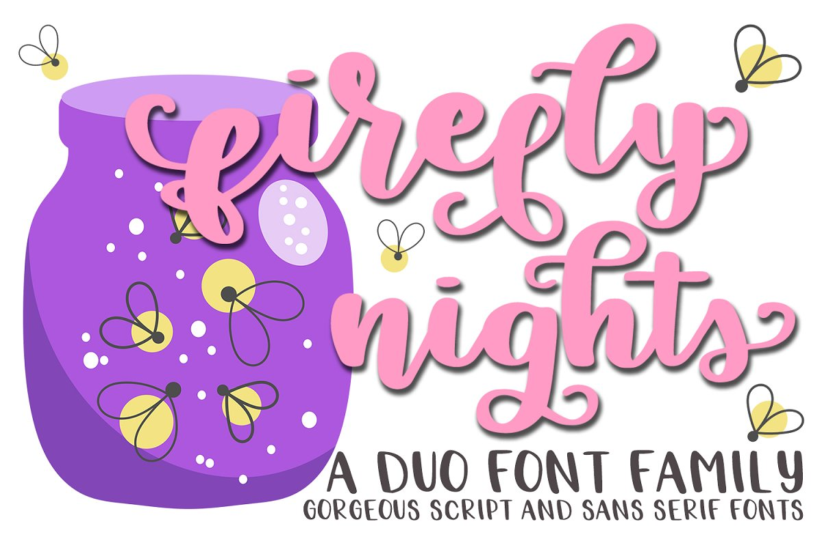 Firefly Nights - A Duo Font Family