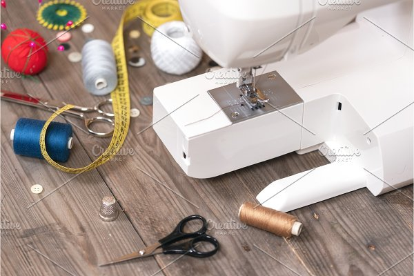 Seamstress Or Tailor Background With